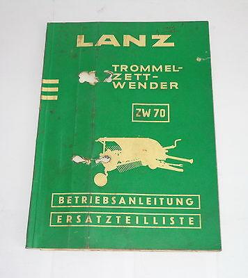 Operating Instructionsparts Catalog Lanz Trommel-zett-wender Zw 70 - 031959