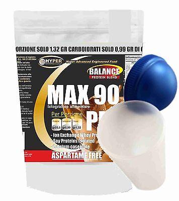 Proteine 90%  gr 1500 + Shaker 3 Fonti Rilascio Graduale Cacao Aspartame Free