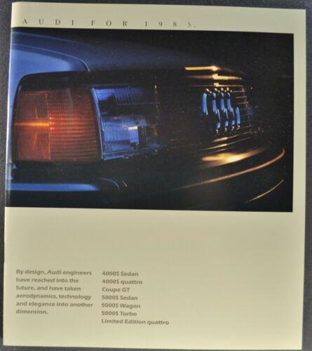 1985 Audi Brochure 4000S Quattro Coupe GT 5000S Wagon Turbo Excellent Original