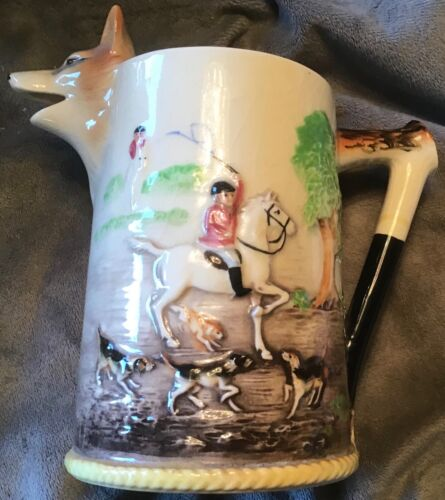 Fox Hunt Hunting Milk Pitcher Creamer Marutomoware 2