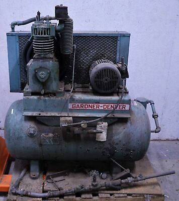 Gardner-denver 3hp Two-stage Air Compressor 3-ph 230460v Aftercooler