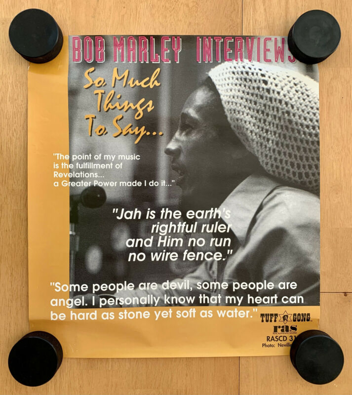 "Bob Marley Interviews ""So Much Things To Say"" 18x20 Promotional Poster"