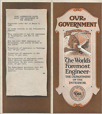 Newark NJ 1921 Brochure Washington Trust Co Our Government Interior Department