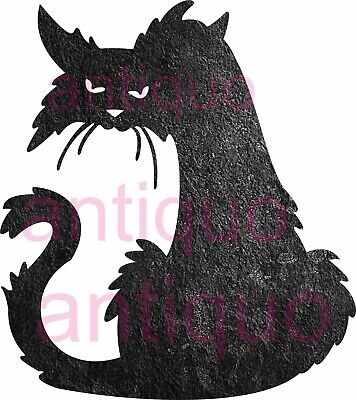Halloween Cat - Cnc Vector Dxf Plasma Router Laser Cut Dxf-cdr Files