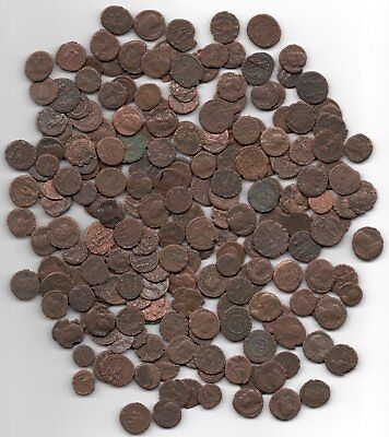 Ten Cleaned Roman Coins Guaranteed Authentic. Over 1500 Years Old!