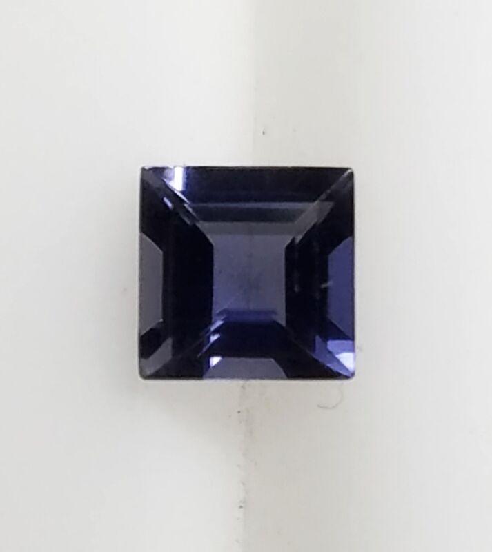 🔥🔥 Natural Genuine Iolite Square Cut AA Loose Gemstones 4x4 MM