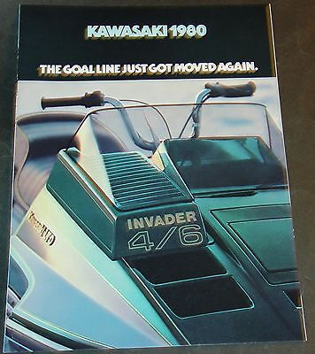 1980 KAWASAKI SNOWMOBILE SALES BROCHURE  12 PAGES NICE   (721)