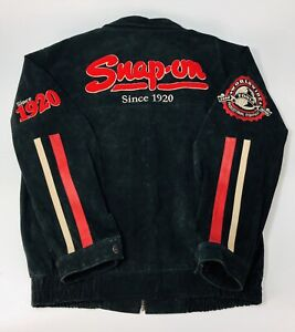 Snap On Tools suede leather jacket Authentic Choko men's Large