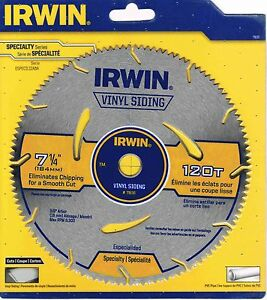 New Irwin 7 1 4 Quot 120t Circular Saw Blade 11830 For Vinyl