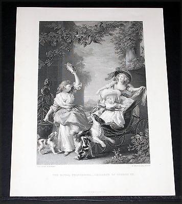 (1880 BRITISH ART PRINT-ENGRAVING,