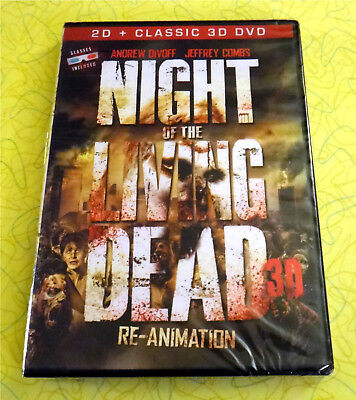 Night of the Living Dead 3D: Re-Animation ~ New DVD Movie  Zombie Horror (Zombie Animation)