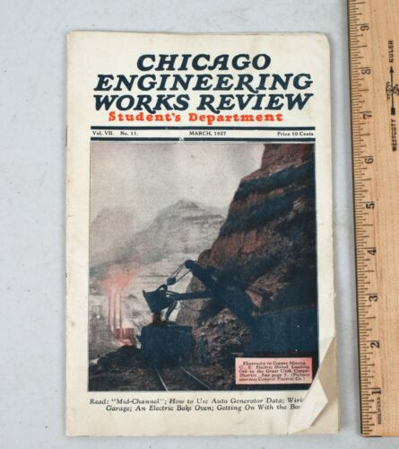March 1927 Chicago Engineering Review Magazine Cooke School of Electricity