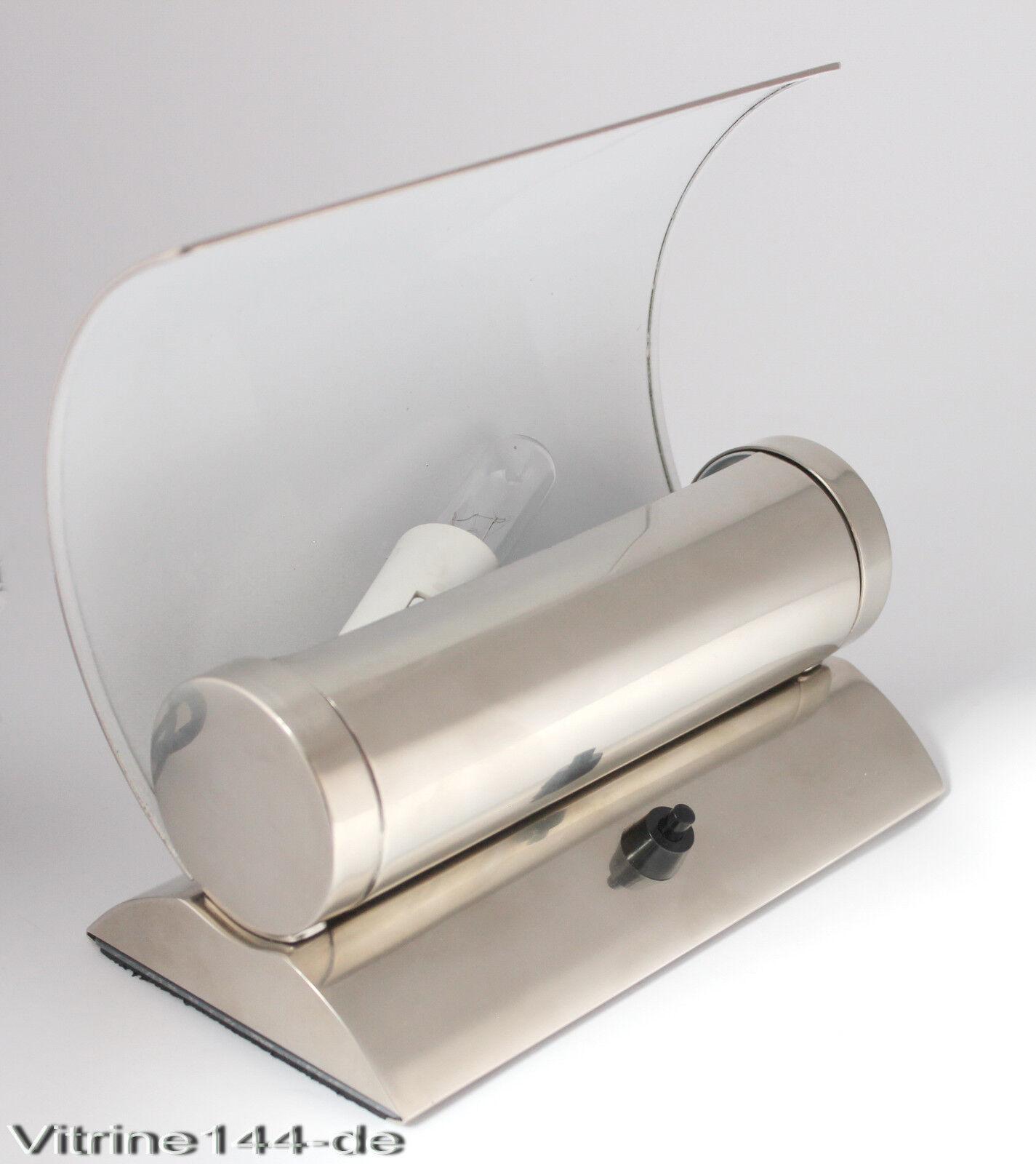 bauhaus design lampe tischleuchte wandleuchte silber matt messing vernickelt eur 170 00. Black Bedroom Furniture Sets. Home Design Ideas