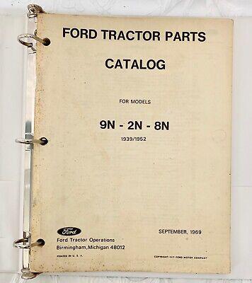 Vintage 1969 Ford Tractor Parts Catalog For Models 9n 2n 8n 1939 1952