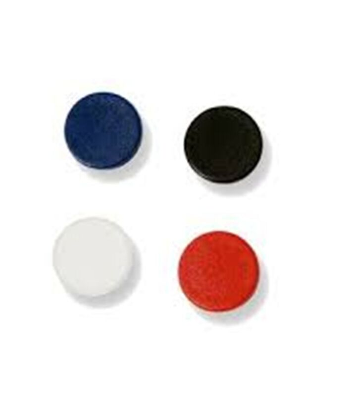 """11 MASTERVISION IM140909 WHITE BOARD ASSORTED CIRCLE MAGNETS, 3/4"""" DIAM  SDC 015"""