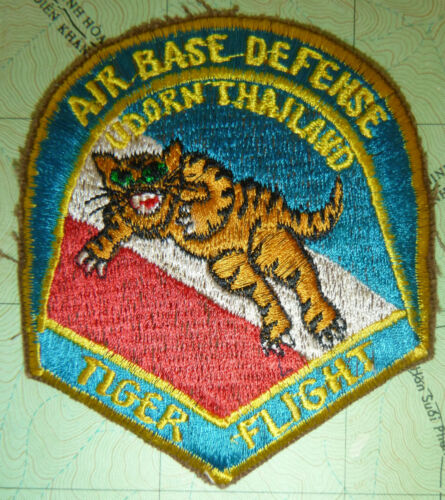 Patch - TIGER FLIGHT - USAF BASE DEFENSE - UDORN THAILAND - Vietnam War - 4127