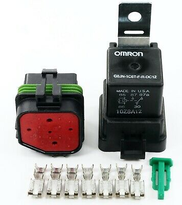 Delphiomron 5030 Amps Weatherproof Automotive Relay Socket Kit