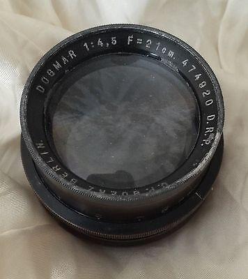 C.P. Goerz Berlin Dogmar 21cm f/4.5 Portrait Lens No Flange As Is