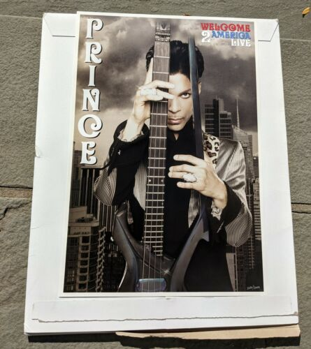 PRINCE WELCOME 2 AMERICA LIMITED EDITION TOUR POSTER NUMBER 2281/3000
