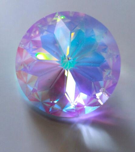 ASFOUR 40mm SUNFLOWER design Aurora Borealis CRYSTAL faceted AB chandelier PRISM