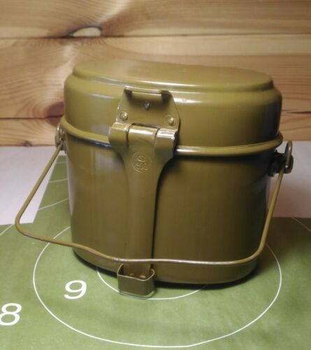Original Russian Army Mess Kit USSR Military Lunch Box Canteen Pot Kettle Soviet