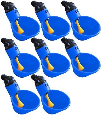 8 Automatic Waterer Drinker Cups Chicken Coop Poultry Chook Bird Turkey Drink
