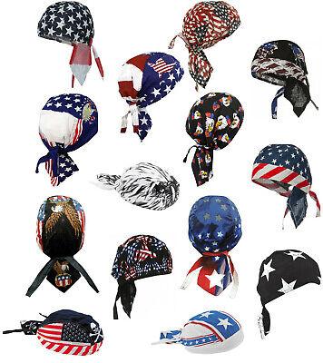 American Flag Skull Cap Patriotic Doo Rag Bald Eagle Bandana Chemo Dorag Hat Men - Bandana Hat