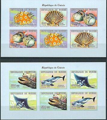 GUINEA MEERESTIERE KLEINBOGENSATZ POSTFRISCH 1999 MI 2468 2473 B