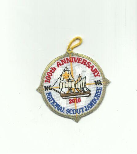 BI SCOUT BSA 2010 JAMBOREE SUBCAMP 17 NC VA GOLD MYLAR RE SAILING SHIP 100TH !!!