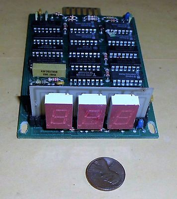3 Digit Radar Display (3 DIGIT VINTAGE T3 X-BAND SPEED RADAR LED DISPLAY PCB)