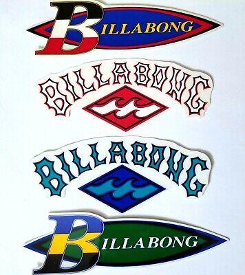 BILLABONG 4 STICKERS VINTAGE SURF SURFER VTG Decal Vinyl Sur