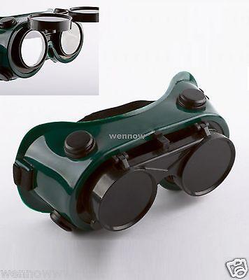 Flip Up Welding Safety Goggles Protect Solder Welder Glasses Double Lenses Caem