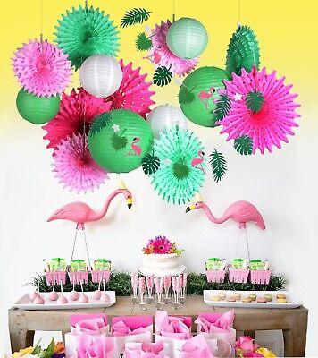 Diy Party Banner (Flamingo Summer Banner Fruit Party DIY Banner Tropical Hawaiian Festival)