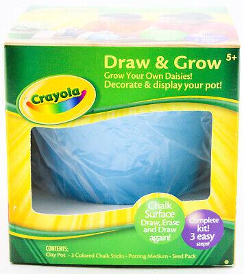 3er Set Crayola Schubladen & Wachsen Komplett Blumentopf Kind Handwerk Blau