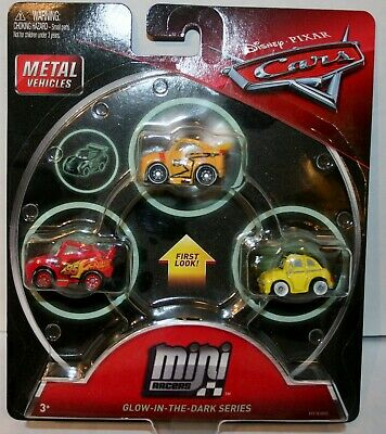 Disney Cars 3 Glow In The Dark Series Mini Metal Racers McQueen Luigi Storm