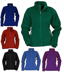 Ladies-Full-Zip-Classic-Fleece-Jackets-Size-8-to-30-WORK-CASUAL-SPORTS-604