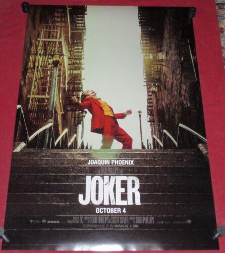 Joker Movie Poster 27x40 D/S Joaquin Phoenix  Robert De Niro Zazie Beets  Conroy
