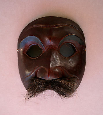 ANTIQUE JAVANESE INDONESIAN MASK - PRIVATE FRENCH COLLECTION