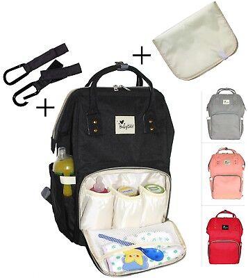 Wickeltasche Babytasche Wickelrucksack Rucksack Pflegestasche mit 2x