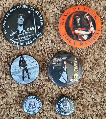 Ramones Pins Lot - Joey Ramone Rare set