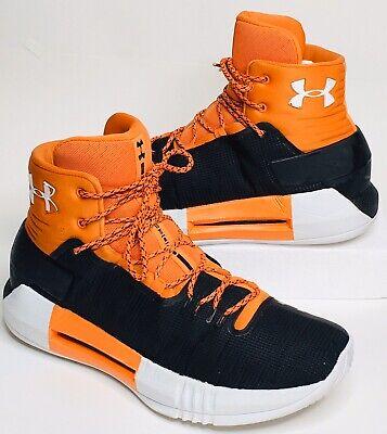 Under Armour Mens Drive 4 TB Orange Black Shoes 1303010 800 Rare Limited Size 10