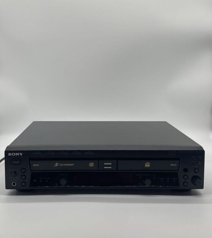 ✅ Sony RCD-W500C 5 CD Changer/CD Recorder Tested & Cleaned SEE DESCRIPTION
