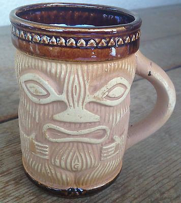 Tiki Mug Tumbler Vintage Coffee mug Paul Marshall Japan Sticker #B Pottery Cute
