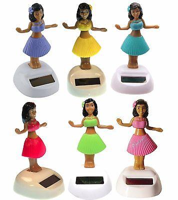 Dancing Hawaiian Solar Powered Hula Girls Bobble Head Plastic Toy Sun Catcher - Solar Hula Girl