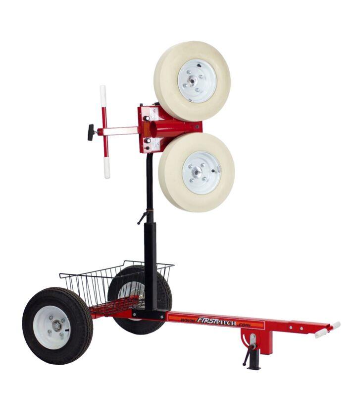 First Pitch Curveball Baseball Pitching Machine W/Transporter Pro Cart