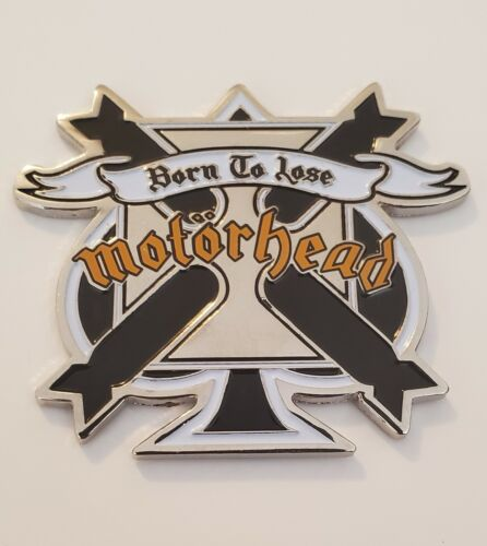 Motorhead Ace of Spades Bomber Logo Silver Pin Extremely Detailed Lemmy