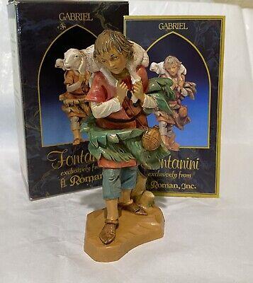 "FONTANINI HEIRLOOM 5"" NATIVITY CHRISTMAS FIGURE 72551 GABRIEL SHEPHERD LAMB SET"
