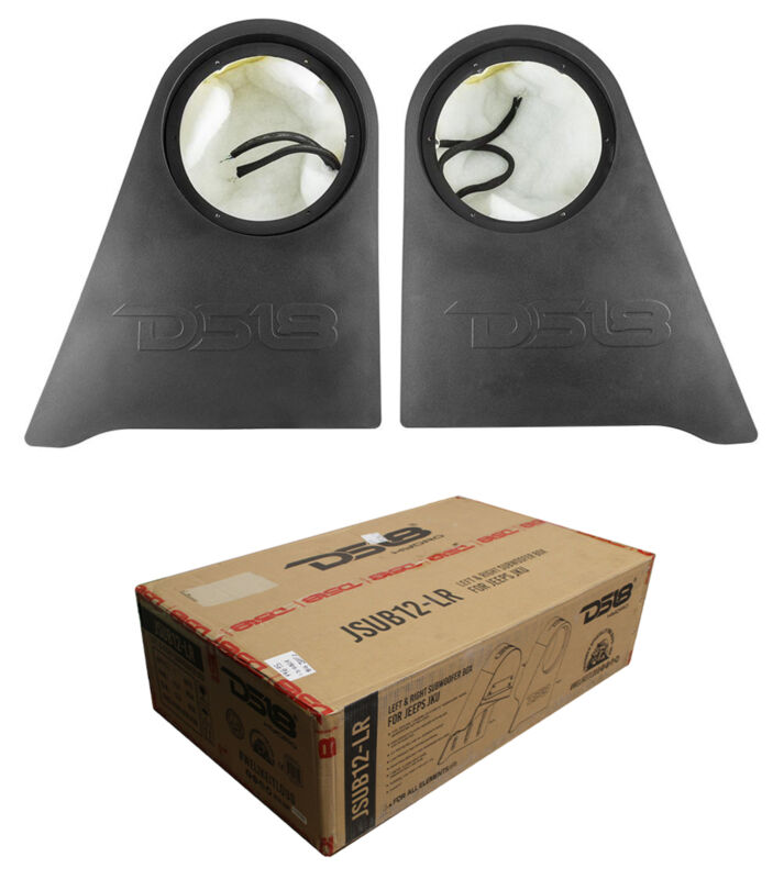 "Jeep Wrangler 12"" Subwoofer Custom Fit Enclosures RGB Side Box 2007-2020 JK/JKU"