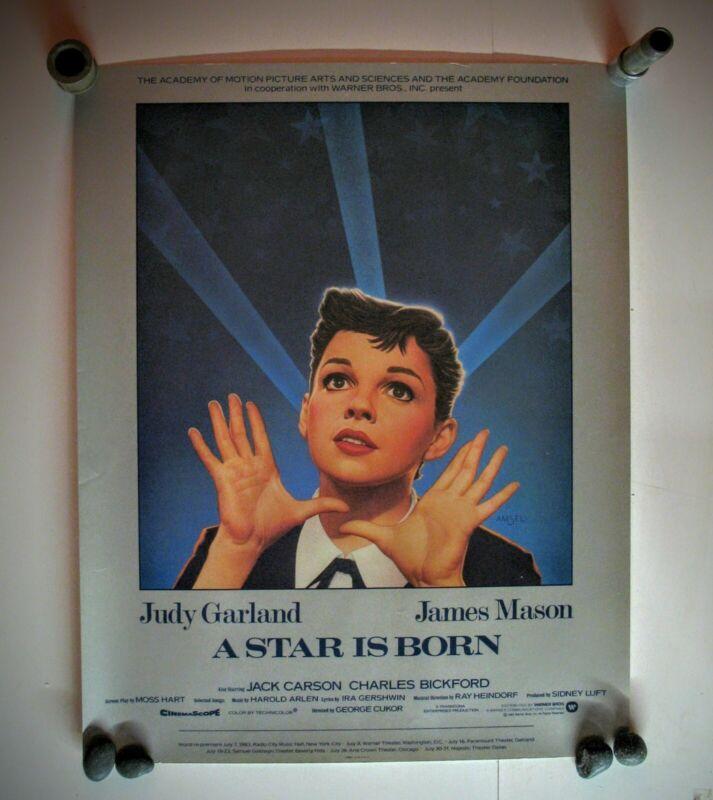 Star is Born , Judy Garland 22X28 1983 original movie posters ,heavy stock pa