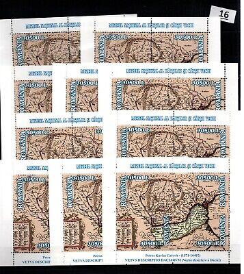 AC 10X ROMANIA - MNH - MAPS - 2003 - WHOLESALE